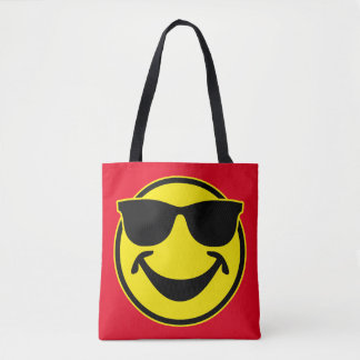 クールでにこやかな黄色 + あなたのbackg。 及びアイディア トートバッグ