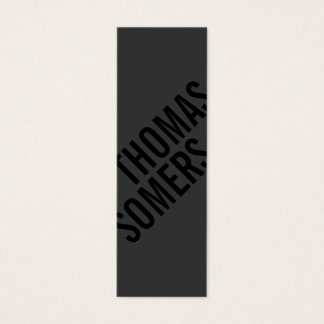 クールではっきりしたで黒くユニークでモダンなデザイナー スキニー名刺