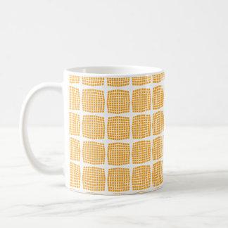 クールでカスタムでモダンなオレンジによって点検されるマグ コーヒーマグカップ