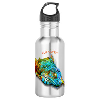 クールでカラフルでかわいい虹のトカゲのハ虫類 ウォーターボトル