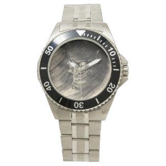 クールでクラシックなヴィンテージの日本の鬼の頭部の入れ墨 腕時計