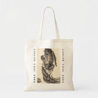 クールでクラシックなヴィンテージの日本の鬼インク入れ墨 トートバッグ