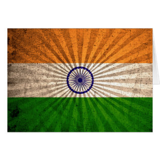 クールでグランジなインドの旗 カード