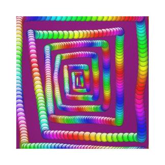 クールでファンキーな虹の当惑の圧延の大理石のデザイン キャンバスプリント
