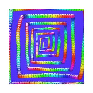 クールでファンキーな虹の当惑の圧延円球Des キャンバスプリント