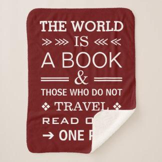 クールでモダンで感動的なタイポグラフィ旅行引用文 シェルパブランケット