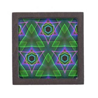 クールでモダンなネオン三角の層 ギフトボックス