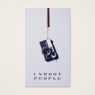 クールでモダンな灰色の専門のカメラマンのカメラ 名刺