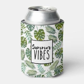 クールでモダンな熱帯植物の夏の感情 缶クーラー