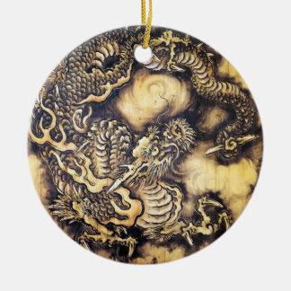 クールで伝統的な日本の東洋のドラゴン木芸術 セラミックオーナメント