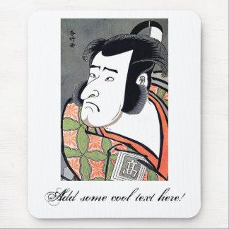 クールで伝統的な東洋の日本のな武士の入れ墨 マウスパッド
