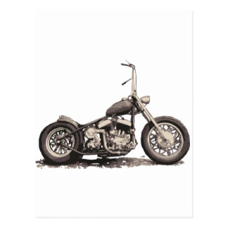 クールで古いモーターバイク ポストカード