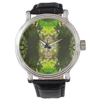 クールで幾何学的な自然の腕時計 腕時計