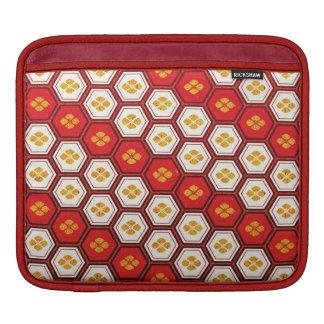 クールで抽象的な東洋の日本パターン袖 iPadスリーブ