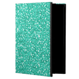 クールで粋で鮮やかなネオン淡いブルーの模造のなグリッター iPad AIRケース