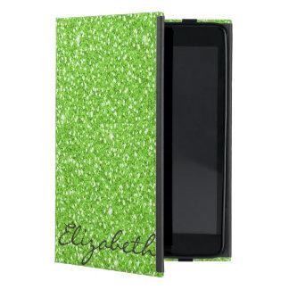 クールで粋で鮮やかなネオン緑の模造のなグリッター iPad MINI ケース