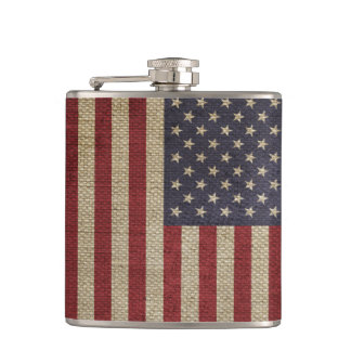 クールで粋なアメリカの旗のバーラップの質 フラスク