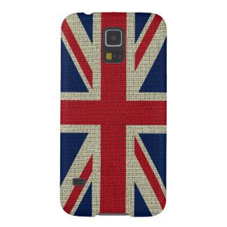 クールで粋なイギリスの旗のバーラップの質 GALAXY S5 ケース