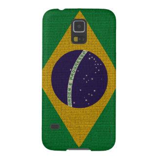 クールで粋なブラジルの旗のバーラップの質 GALAXY S5 ケース