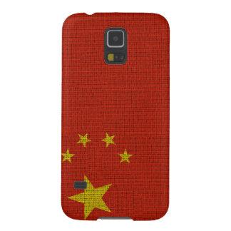 クールで粋な中国の旗のバーラップ GALAXY S5 ケース