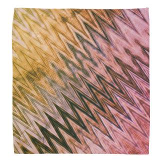 クールで素朴な波状パターン バンダナ