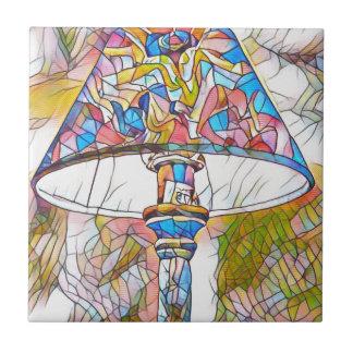 クールで芸術的なステンドグラスのランプの笠 タイル