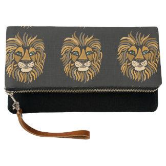 クールで芸術的なライオンの抽象美術のクラッチ・バッグ クラッチバッグ