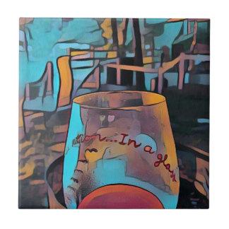 クールで芸術的なワイングラス タイル