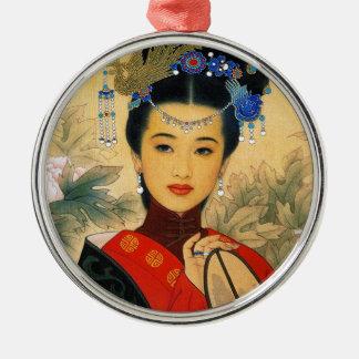クールで若く美しく中国のな郡野ジン王子の芸術 メタルオーナメント