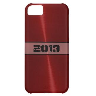 クールで赤い光沢があるステンレス鋼の金属 iPhone5Cケース
