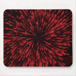 クールで赤い爆発のデザイン マウスパッド