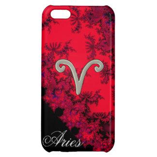 クールで赤く黒い(占星術の)十二宮図の印の牡羊座の占星術 iPhone5C カバー