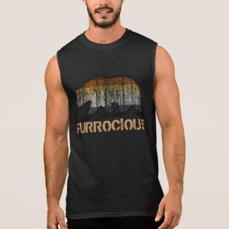 クールで陽気なくまのグランジなFurrociousくまのプライド色 袖なしシャツ