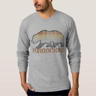 クールで陽気なくまのグランジなFurrociousくまのプライド色 Tシャツ