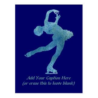 クールで青いフィギュアスケート選手 ポストカード