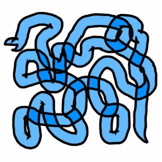 クールで青いヘビの設計 写真彫刻マグネット