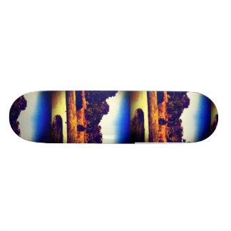クールで青い木のスケートボード カスタムスケートボード