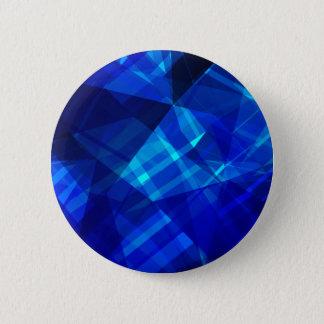 クールで青い氷の幾何学的なパターン 缶バッジ