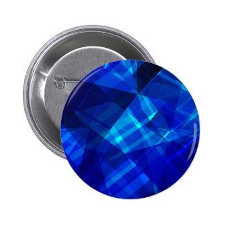 クールで青い氷の幾何学的なパターン 5.7CM 丸型バッジ