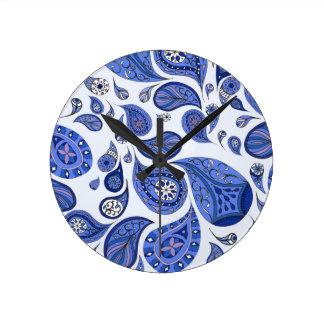 クールで青い涙の時計 ラウンド壁時計