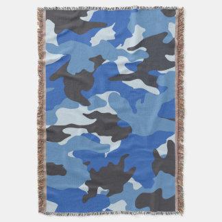 クールで青い迷彩柄の軍隊によって編まれるブランケット スローブランケット