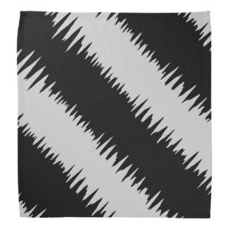 クールで黒いジグザグ形の縞模様 バンダナ