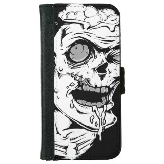 クールで、ユニークなおもしろいなゾンビの恐怖顔- iPhone 6/6S ウォレットケース