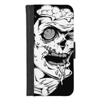 クールで、ユニークなおもしろいなゾンビの恐怖顔- iPhone 8/7 ウォレットケース