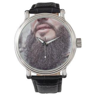 クールなひげ及び髭の腕時計 腕時計