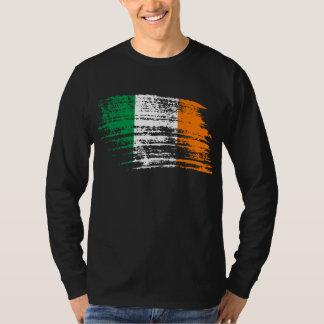クールなアイルランドの旗のデザイン Tシャツ