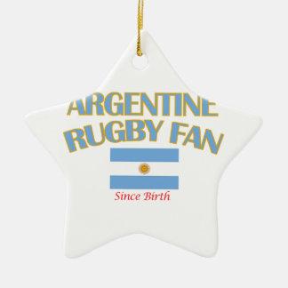 クールなアルゼンチン人のラグビーファンのデザイン セラミックオーナメント