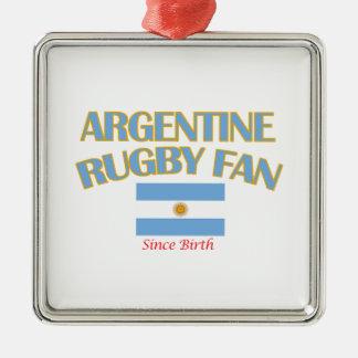 クールなアルゼンチン人のラグビーファンのデザイン メタルオーナメント