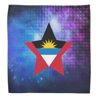 クールなアンチグアバーブーダの旗の星 バンダナ