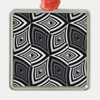 クールなオップアートの立方体パターンデザイン メタルオーナメント